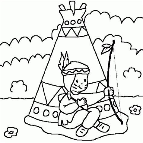 Teepee Colouring Pages Teepee Coloring Pages