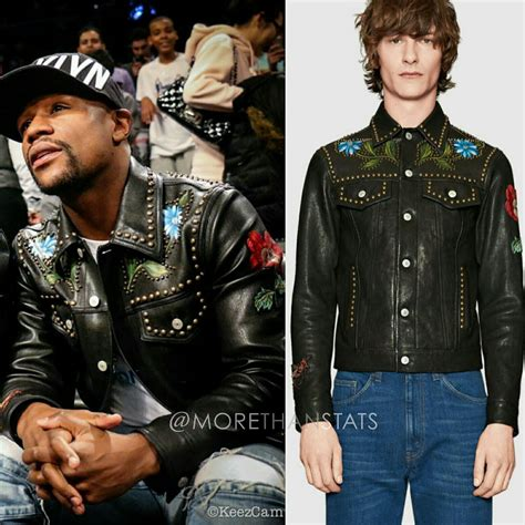 New Fasion Kebaya Floy Style floyd mayweather s gucci painted leather mens fashion jacket