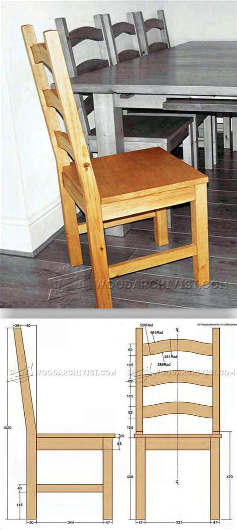 Wood Dining Chair Plans Pine Dining Chair Plans Woodarchivist