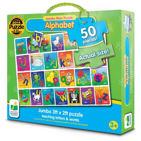 The Learning Journey Match It Time the learning journey jumbo floor puzzle alphabet floor