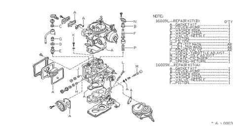 1986 nissan 720 parts carburetor repair kit for 1986 nissan 720
