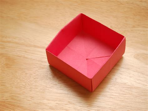 Origami Small Box - how to make an origami paper basket 8 steps with pictures