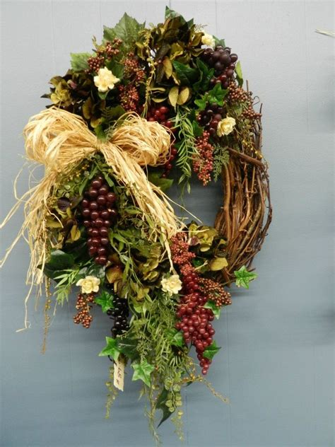 kitchen wreath grapes tuscany italy wine made by amanda and