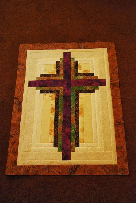 quilt pattern cross sweet seasons of life log cabin cross with instructions