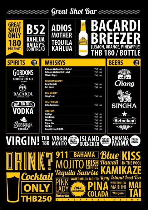 cocktail drinks menu 19 best design children s menus images on pinterest