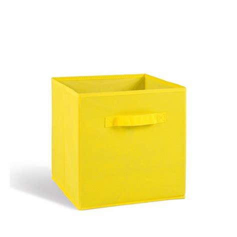 tiroir de rangement en tissu compo tiroir de rangement tissu jaune 27x27x28 cm achat