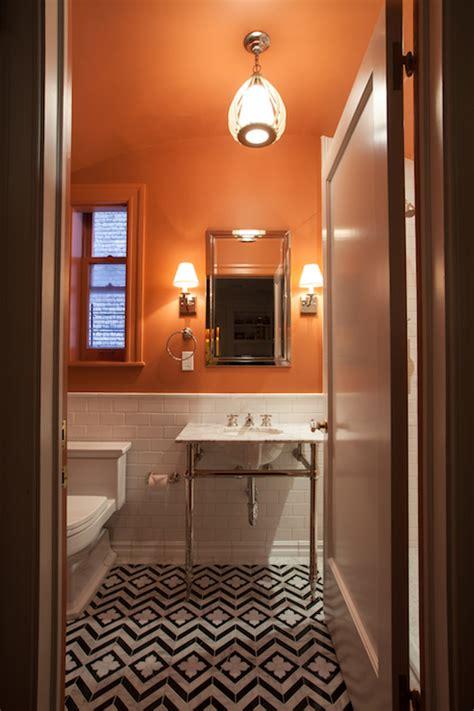Orange And Black Bathroom by Orange Bathroom Eclectic Bathroom The Renovated Home