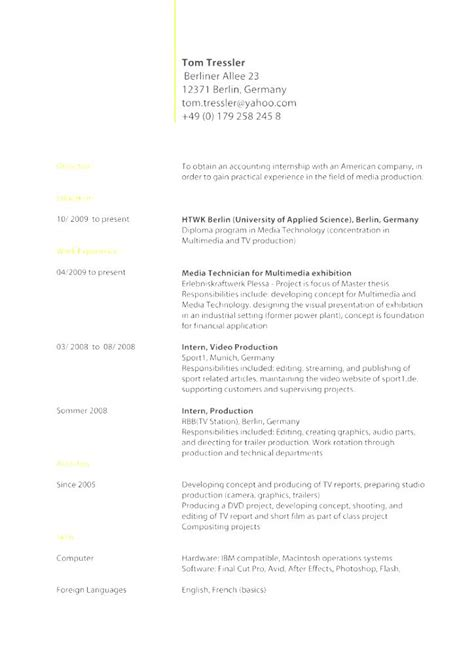 standard professional resume format 28 images word