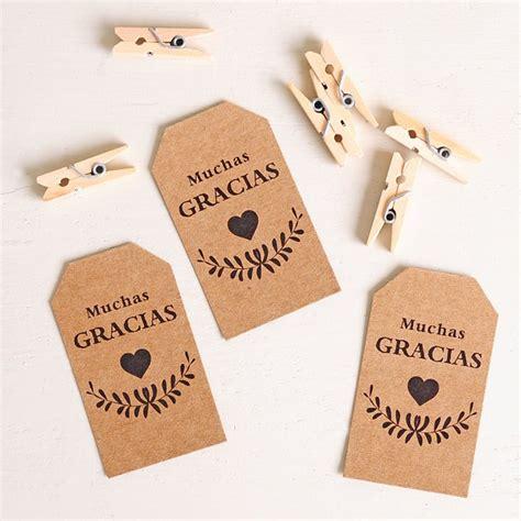 imagenes de gracias vintage 10 etiquetas kraft muchas gracias vintage pinzas madera