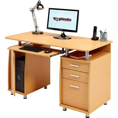 Computer Desk With Storage A4 Filing Drawer Home Office Computer Desks