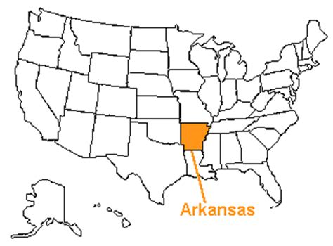 united states map arkansas the us50 a guide to the state of arkansas geography