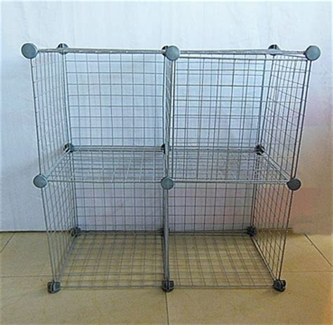 Stack And Rack Storage Cubes by 1 Set X 4pcs Silver Gray Stacking Wire Cube Storage Rack