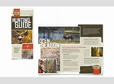 Hunting Guide Tri Fold Brochure Template Design Holiday Gift Guide Microsoft