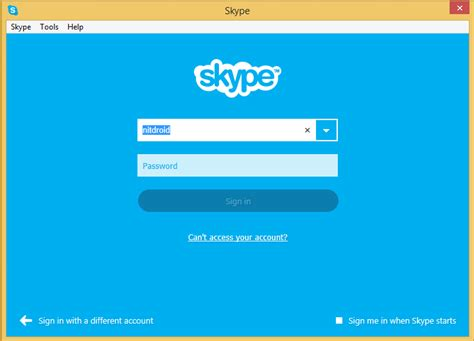 Home Design App Restart how can i remove my skype name from the sign in screen in