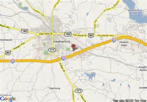 where is weatherford on the map map of best western santa fe inn weatherford