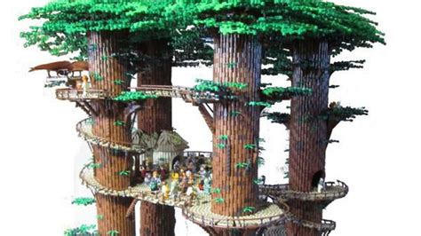 Minecraft Home Decor by 3 Foot Tall Lego Star Wars Ewok Village Is Taller Than