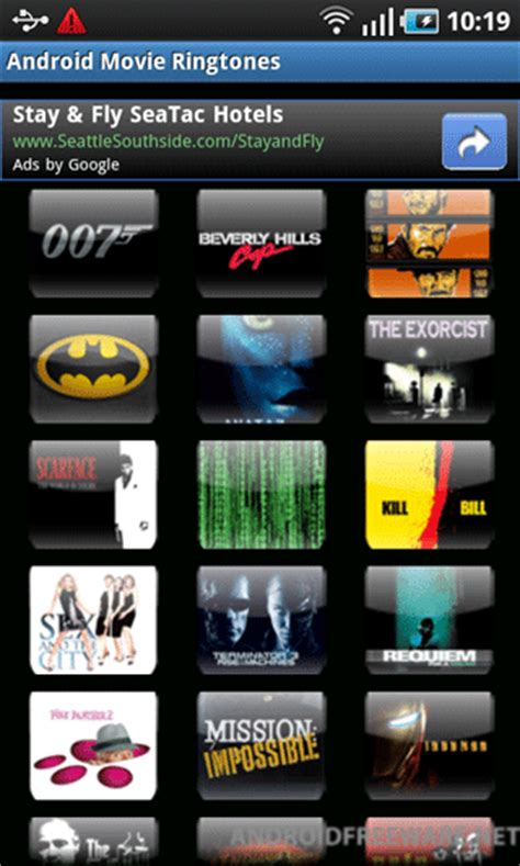 movie themes ringtone download android movie ringtones free android app android freeware