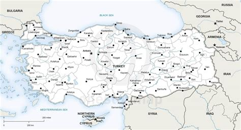 printable turkey map vector map of turkey political one stop map