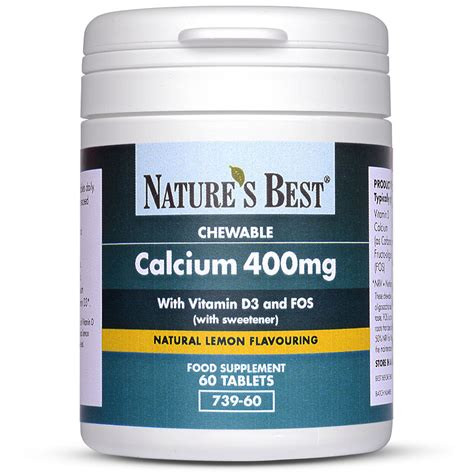 Chewable Calcium Tablets Chewable Calcium Tablets With Vitamin D Fos Nature S Best