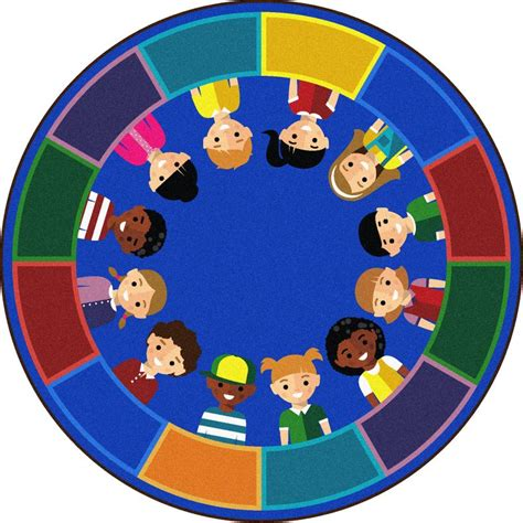 circle time rug all of us together classroom circle time seating rug 7 7 quot 1923e