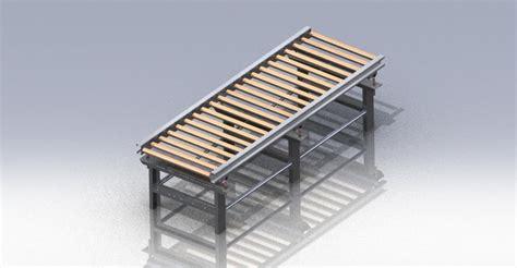 roller bed conveyor 3d cad model grabcad