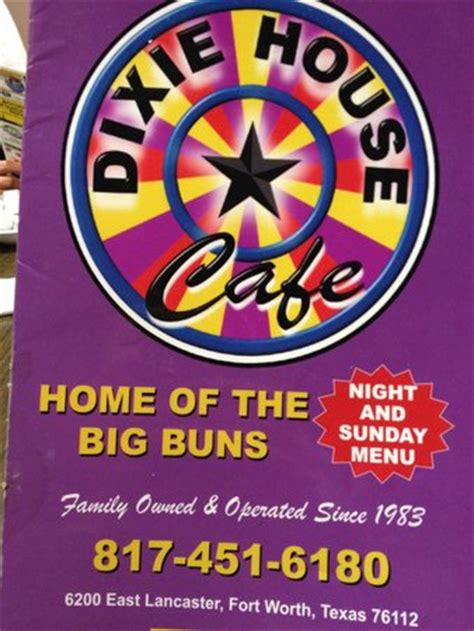 dixie house cafe menu front picture of dixie house cafe fort worth tripadvisor