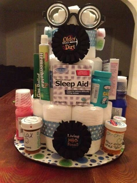 Over The Hill Diaper Cake Get Caked Up