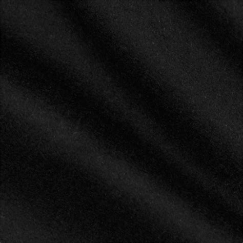 Black Cloth Telio Wool Blend Melton Black Discount Designer Fabric