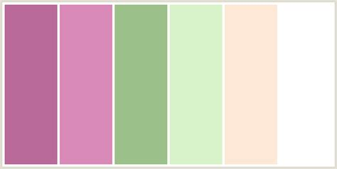 colours that go with peach colorcombo268 with hex colors b96a9a d889b8 9cc089