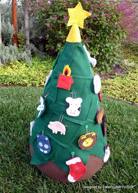 kids first christmas tree felt christmas tree with 24
