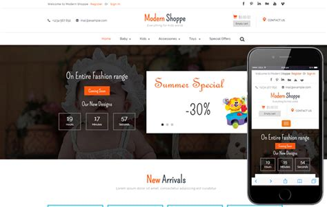 mobile site design template home shoppe shopping cart mobile website template