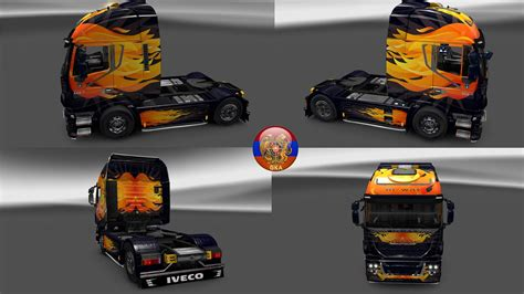 skin pack new year 2017 for iveco hiway and volvo 2012 iveco hiway truck skin packs flamenull 1 27 1 7s ets2 mod