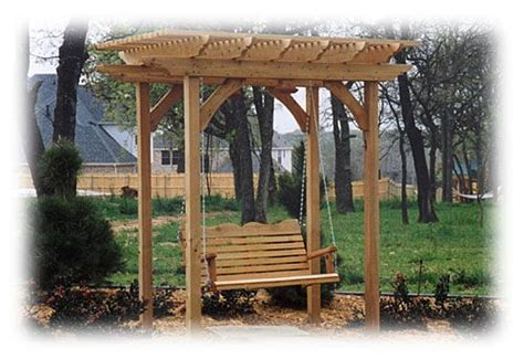 standing porch swing instant front porch pergola