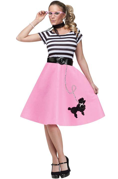 50 theme costumes hairdos 50 s soda shop sweetie adult costume purecostumes com