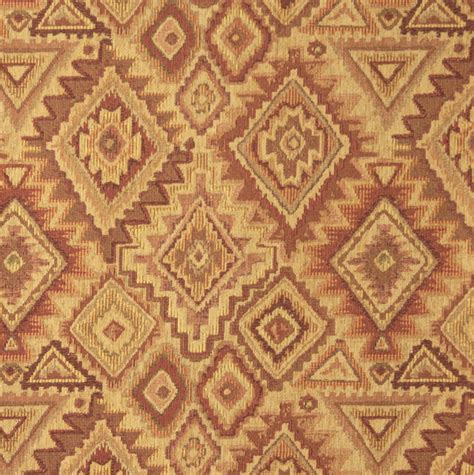E100 Southwestern Theme Fabric Traditional Upholstery