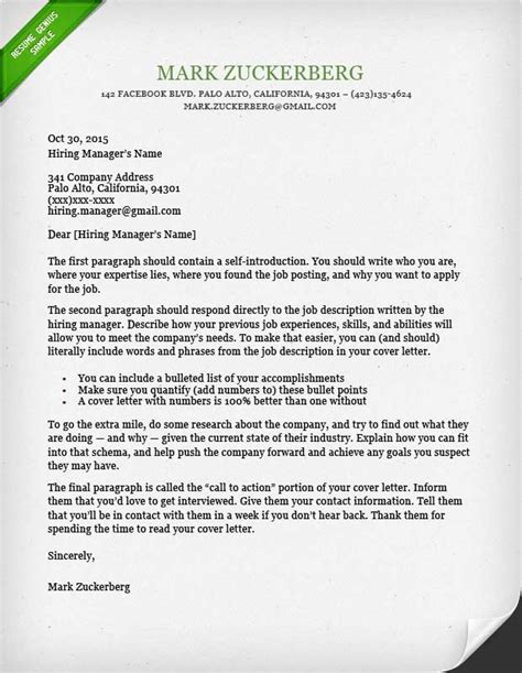 cover letter writing guide cover letter sles and writing guide resume genius