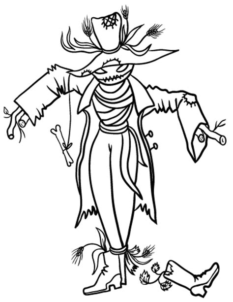 scarecrow coloring page pdf free scarecrow coloring page