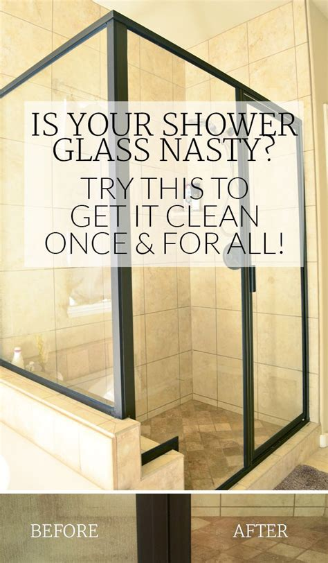 clean shower doors  hard water stains