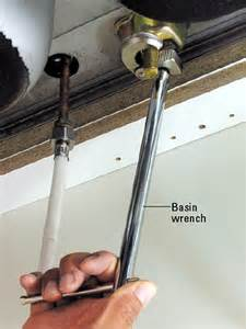 kitchen faucet wrench how do i tighten a pvc fitting in a narrow space a