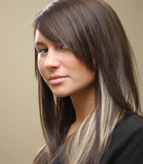 hairstyles with highlights underneath dark brown hair with blonde highlights underneath hair