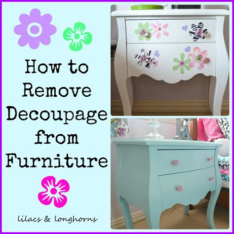 What Do You Need For Decoupage - how to remove decoupage lilacs and longhornslilacs and