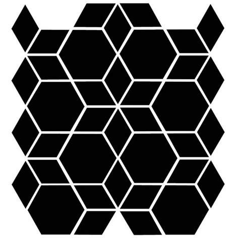 diamond pattern wall stencil geometric hexagon diamond seamless pattern reusable