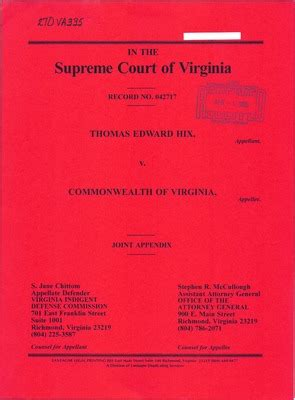 Washington Court Records Virginia Supreme Court Records Volume 270 Virginia Supreme Court Records