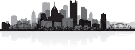 pittsburgh usa city skyline silhouette vector illustration