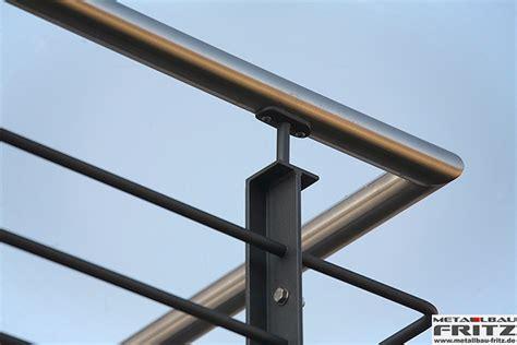 balkongeländer handlauf edelstahl schlosserei metallbau fritz balkongel 228 nder mit