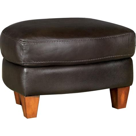 brown leather ottoman lidia brown leather ottoman