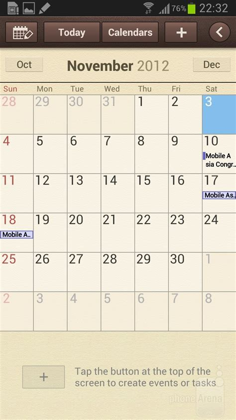 Calendã S Samsung Galaxy Note Ii Vs Galaxy Note Interface And