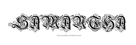 samantha tattoo name designs