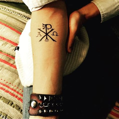 christian symbol tattoos best 25 chi rho ideas on alpha and omega