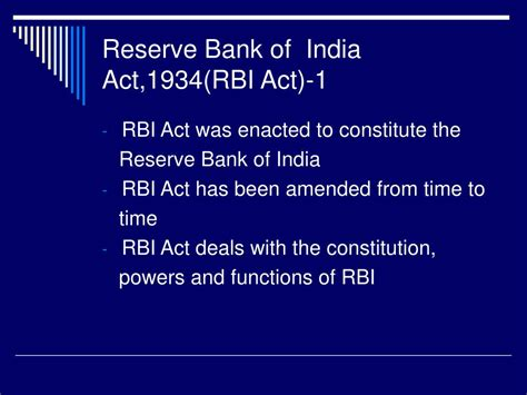 rbi bank india ppt welcome to iibf s jaiib classes powerpoint
